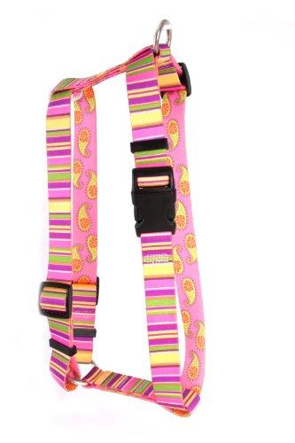 Yellow Dog Design Roman Harness, X-Small, Pink Stripes ()