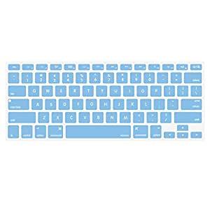 MOSISO Silicone Keyboard Cover Compatible Older MacBook Air 13 Inch A1466 / A1369, Release 2010-2017,MacBook Pro 13/15 Inch (with/Without Retina Display, 2015 or Older Version), Airy Blue