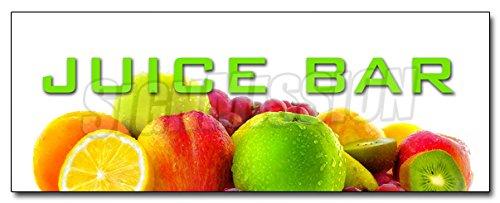 "12"" JUICE BAR DECAL sticker smoothies healthy fresh fruit fiber vitamins fitness"