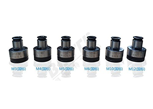 Tapping Collet For Pneumatic Air Tapping Machine M3-M12 (6 pcs)Tapping Capacity M3-M12