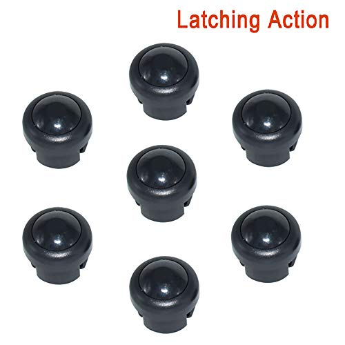 gazechimp 22mm 1NO Car Metal Waterproof ON Off Horn Switch Button Screw Car Modified