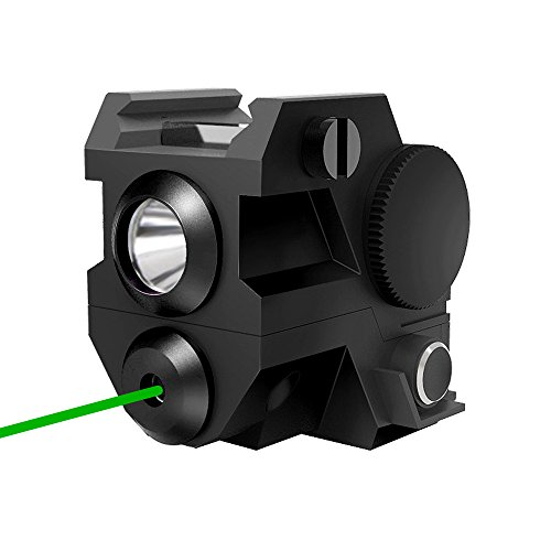 Airsoft Laser Handgun - Tactical Pistol Green laser with LED flashlight ,2-in-1, Mini Sights Accessories for handgun/rifle/hunting weapons ,20mm Rails Mount