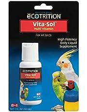 Ecotrition Vita-Sol Multi-Vitamin for All Birds, 1 fl oz,1-Ounce