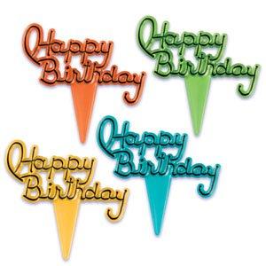 12 ~ Happy Birthday Picks ~ Designer Cupcake Toppers ~ LOOK!!!
