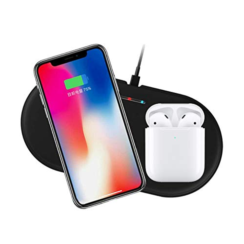 Jonerytime❤️Qi Wireless Fast Charger Stand Holder for Apple Watch 4 for iPhone for airpods ()