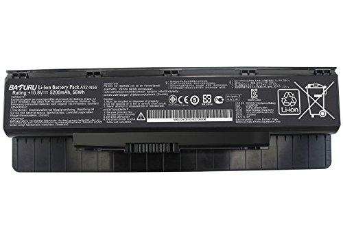 Baturu 6Cell A31-N56 A32-N56 A33-N56 Laptop Battery for Asus N56 N56V N56VZ N56VB N56VM N56VJ N56vj-dh71 N56D N56DP N76 N76V N76VM N76VZ 46 N46V N46VM N46VZ - 6 Battery Cell Asus