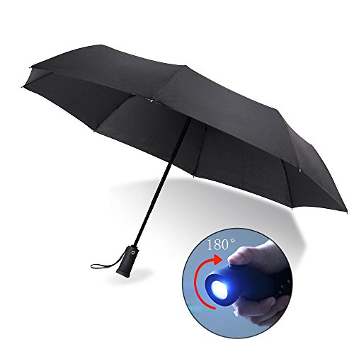 yier-led-flashlight-umbrella-compact-travel-umbrella-auto-open-and-close-180-degree-ratate-handle