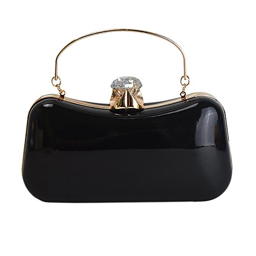 Bag Women's Purse Clutch Black QZUnique Handbag Shoulderbag Evening 1 Luxury Elegant q7wxAFZ