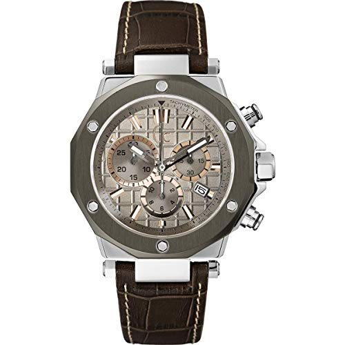 Guess Mens Chronograph Quartz Watch with Leather Strap X72026G1S