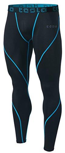 Tesla TM-MUP19-TRN_Medium Men's Compression Pants Baselayer Cool Dry Sports Tights Leggings MUP19