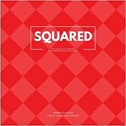 Squared (All-Purpose Premium Notebook): Crimson Red, 500 Blank Pages, Square Journal Notebook (8.5 x 8.5 inches) (Prolific Creator)