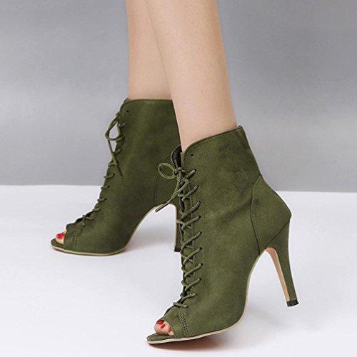 Sandales Tongs Talons Hauts Beautyjourney Wedges Party Toe Chaussures Simples Basket Dames Vert Cheville Femme femmes Peep Block Massantes Pour dvqnqxIzOp