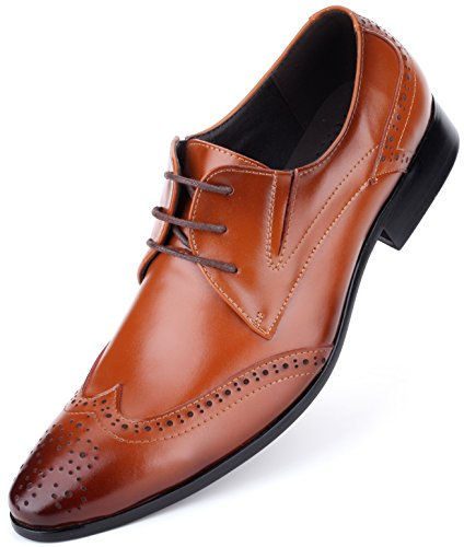 Mens Oxford Shoes Formal Leather Mens Dress Shoes - Men Wedding Shoes in A Bag - -