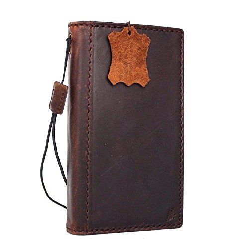 Genuine Vintage Leather Case for Samsung Galaxy S7 Active Book Wallet Luxury Cover S Handmade Retro Id Cards Slots s 7 Brown Slim DavisCase