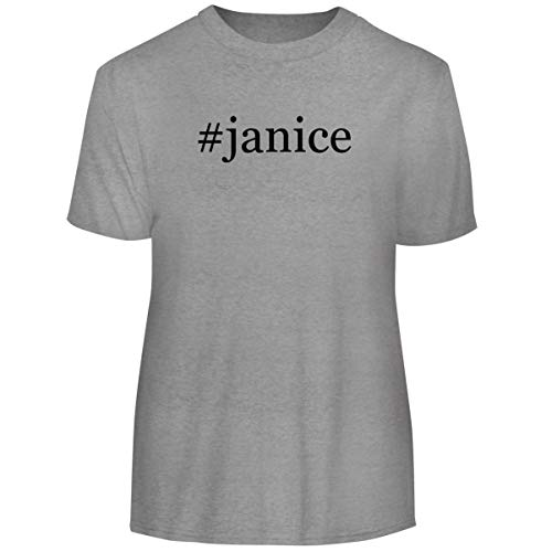 One Legging it Around #Janice - Hashtag Men's Funny Soft Adult Tee T-Shirt, Heather, X-Large