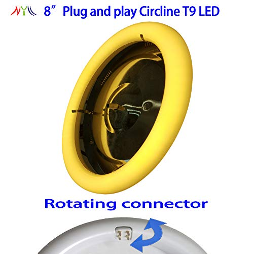 NYLL - 8 Inch/ 8 Plug & Play Circline LED - Warm White (2700K) Circline T9 LED Directly Relamp & Replace 22 Watt 8 Fluorescent Bulb FC8T9 (Without Rewiring or Modification) - Ballast Required!
