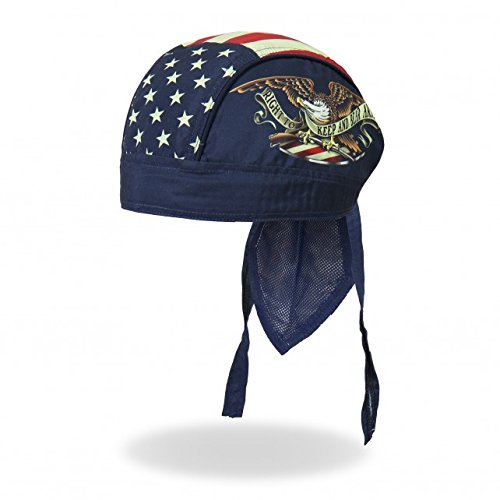 Hot Leathers Authentic Bikers Premium Headwraps, KEEP AND BEAR ARMS - High Quality Micro-Fiber HEADWRAP Confederate Flag Accessories
