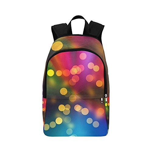 ENEVOTX Bokeh Light Reflections Light Abstract Casual Daypack Travel Bag College School Backpack for Mens and Women