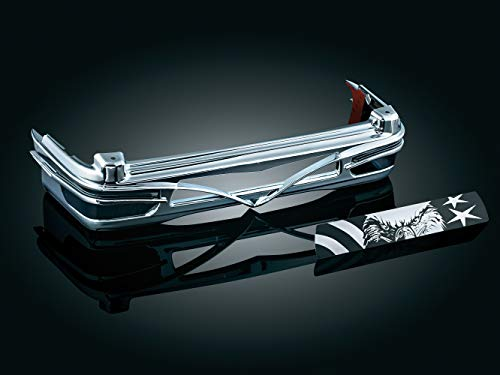 (Kuryakyn 8666 Tour-Pak Trunk Luggage/Storage Rack Accessory: Colossus Rear Trim Accent for 1993-2013 Harley-Davidson Motorcycles, Chrome)