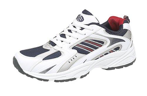 Dek - Zapatillas de running para hombre, color blanco, talla 47
