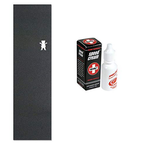 Diamond Supply Co Grizzly Grip Tape (Black) With Bones Speed Cream Skate Bearing Lubricant