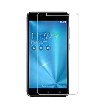 (2 Pack) Asus Zenfone 3 Zoom (ZE553KL) Screen Protector,9H Hardness Tempered Glass Screen Protector for Zenfone 3 Zoom (ZE553KL) with Anti-fingerprint Bubble-Free Crystal Clear