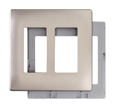 Pass & Seymour SWP262NIBPCC10 Two Gang Decorative Wall Plate, Nickel