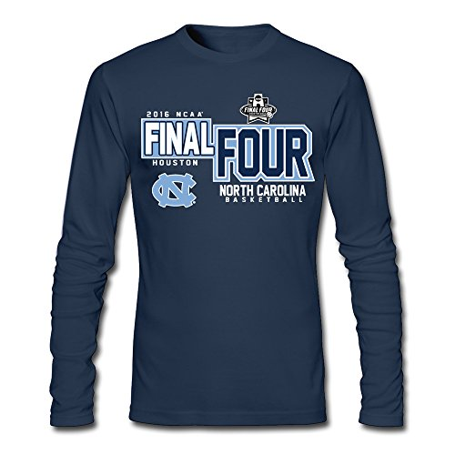 CXY Men's North Carolina Tar Heels Basketball Final Four Long Sleeve T-Shirt