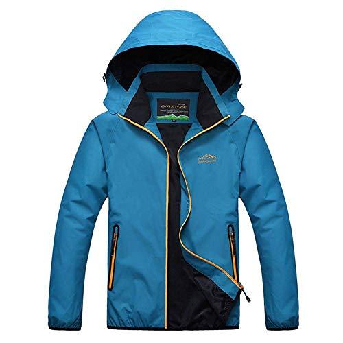 Ropa Transpirable Al Hombres Chaquetas Cálido Impermeable Capucha Polar Outdoor Con Otoño Blu Montañismo Libre Y Aire De q1wpPP