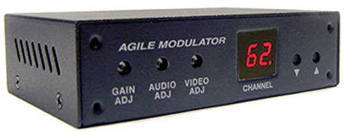 Universal Composite A/V to RF Coax Agile Modulator for NTSC PAL B/G/D/K/I/A