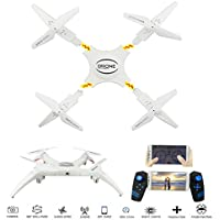 NiGHT LiONS TECH N669 Drone with 0.3MP HD Camera Detachable RC Quadcopter WiFi 2.4GHz 6-Axis Gyro Headless Mode Altitude Hold One Key Rotation APP Voice Control Quadcopter For Outdoor Flying