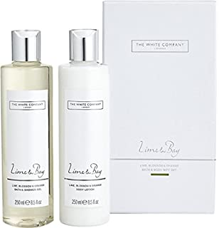 The white company gift set flowers bath shower gel 250ml body the white company lime bay bath body mightylinksfo