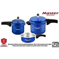 Master Aura Aluminium Pressure Cooker Combo of 5L, 3L & 2L