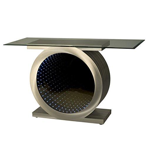 NOVA of California 5210055 Console Table, Brushed Aluminum