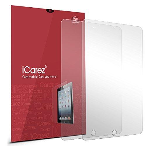 iCarez HD Anti Glare Screen Protector Anti Fingerprint, Anti-Scratch, Anti-Dust & Bubble Free For iPad Mini 1, 2 - Retail Packaging (Pack of 2) ()
