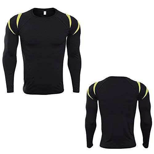 Camisa de compresión para hombre Equipo de entrenamiento deportivo para hombres Equipo superior Muscle Slim , Camiseta de...
