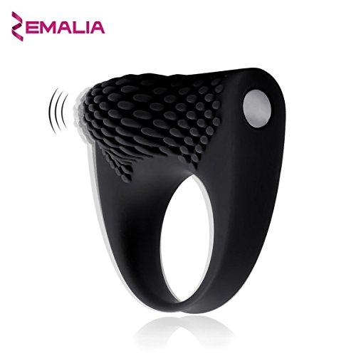 ZEMALIA Armour Waterproof Ultra soft Silicone Vibrating Ring Clitoral Stimulate Massager Sex Toys For Couple's - Masturbator sexual wellness Discreet Packaging(Black)