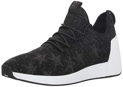 Ash Women's Jaguar Sneaker, Knit Black/Silver/Stretch Lycra Black, 39 M EU (9 US)