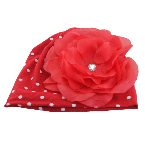 Tou Baby Girl 'S Flower Hat Christmas Hat Red 0-4years Old