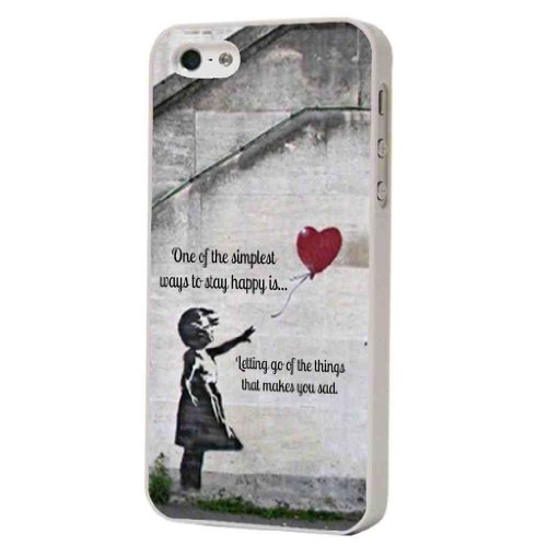 iphone 5 5S Banksy Graffiti-Kunst Graffiti Art UK Hülle Case Back Cover Metall und Kunststoff