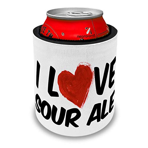 (NEONBLOND I Love Sour ale Beer Slap Can Cooler Insulator)