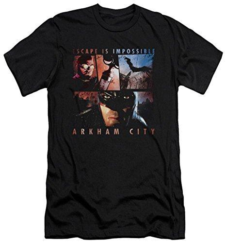 Batman Arkham City - Escape Is Impossible (slim fit) T-Shirt Size L Batman Arkham Asylum Escape