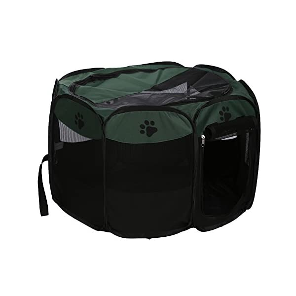 Childplaymate Folding Portable Pet Tent Playpen Exercise Play Dog Fence Puppy Kennel Green Click on image for further info. 6
