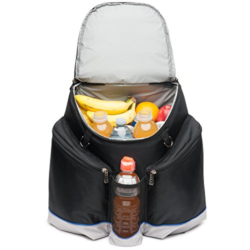 Mojecto Large Cooler Backpack - Heavy Duty 1680D Tear Resistent Fabric, High Density Thick Foam Insulation, Heat Sealed Removable Thick Peva Liner, Large Padded Pockets and Strong Zippers.
