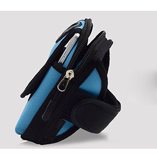 WINOMO Sport-Armband Armband Tasche Oberarmtasche Armtasche Beutel Paket für Handy Schlüssel karten Outdoor Radsport Joggen Wandern Radfahren Reisen Running - 1 Stück