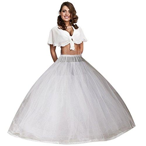 No Petticoat (Edith qi Women 3/4/6 Hoops Petticoats Mermaid Crinoline Half Slips Underskirt For Bridal Gown)