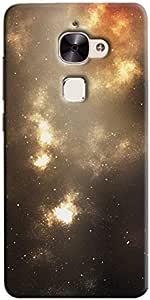 Cover It Up - Orange Silver Star Cloud LeEco Le 2 Hard Case