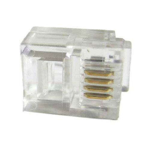 SF Cable, RJ11 6P4C Plug Flat Stranded 50 pcs per bag