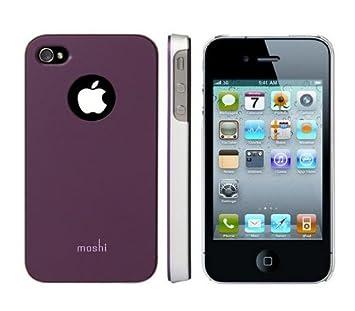 Moshi MHI4GLPU - Carcasa para iPhone 4/4S, morado