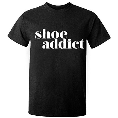 (Illustrated Identity Shoe Addict Unisex Short Sleeve t-Shirt Black)